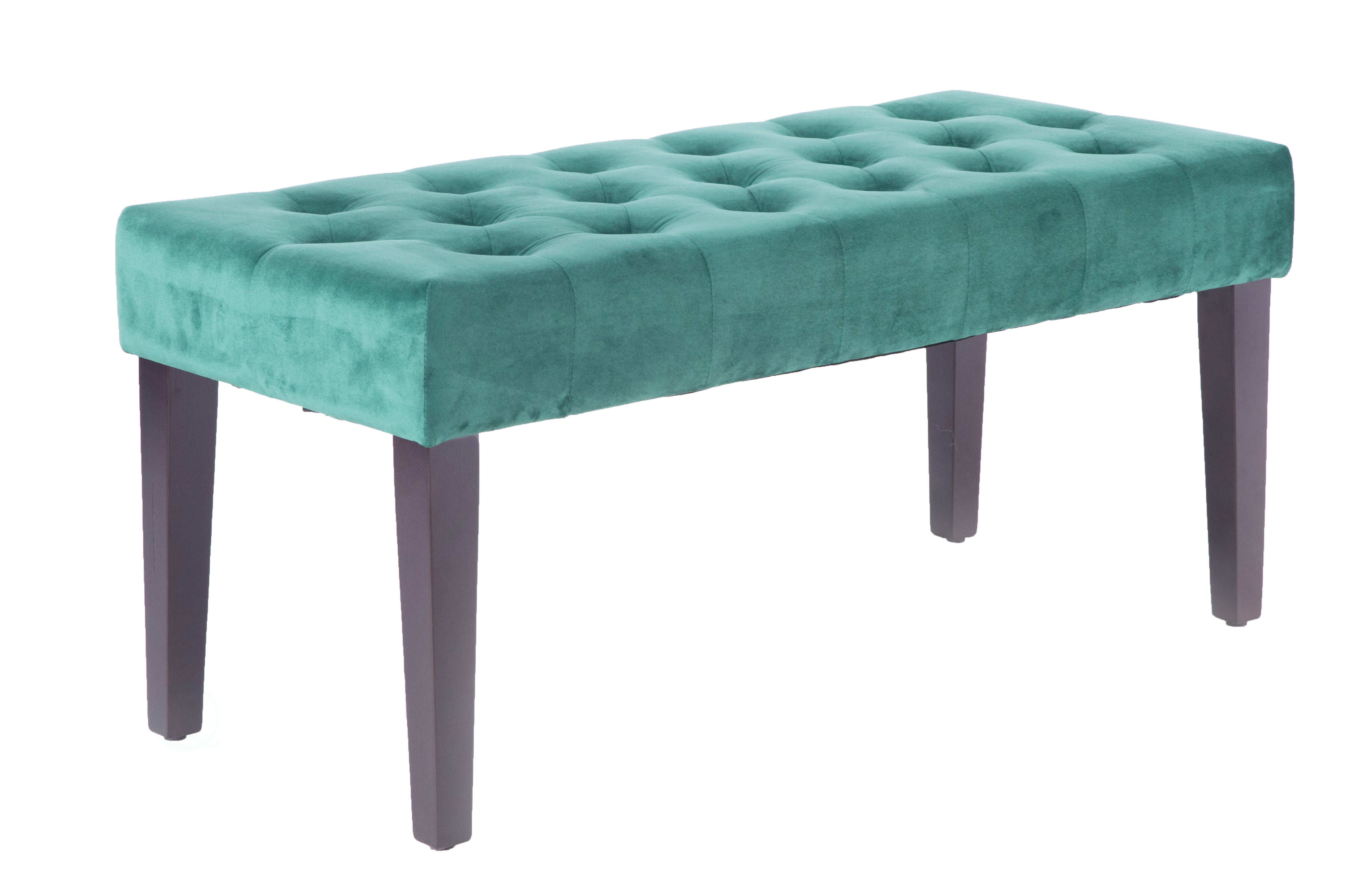 Details About New Bold Tones Velvet Tufted Modern Ottoman Coffee Table  Bench, Green