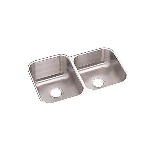 Details about Elkay Kitchen Sink Undermount Double Bowl Stainless Steel  Satin Finish 18-Gauge